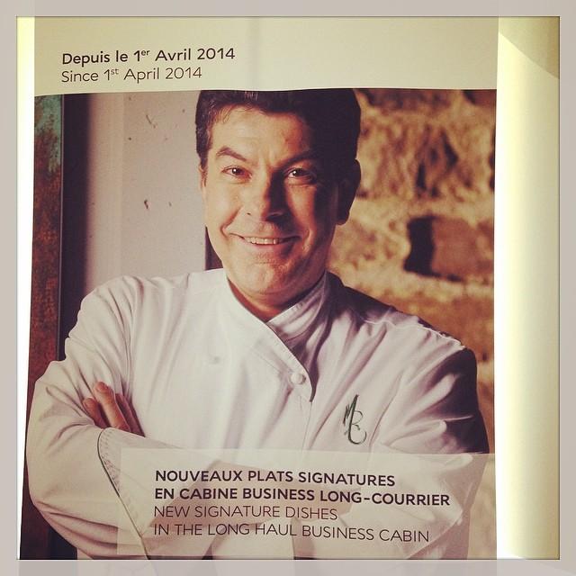 Régis Marcon signe les nouveaux plats de la carte de la business classe Air france