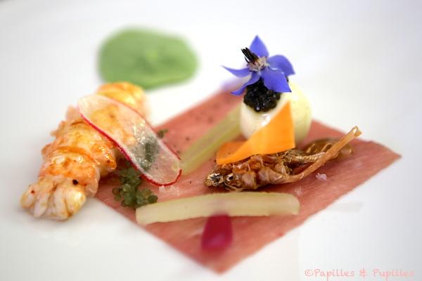 Demoiselle de Cherbourg, sauce Gribicge - Langoustine, veau de lait et caviar