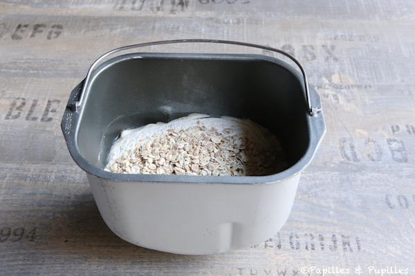 Eau, farine et flocons d'avoine