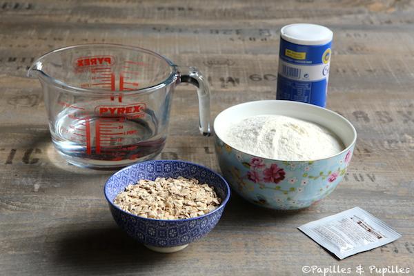 Ingrédients du pain cocotte en autolyse