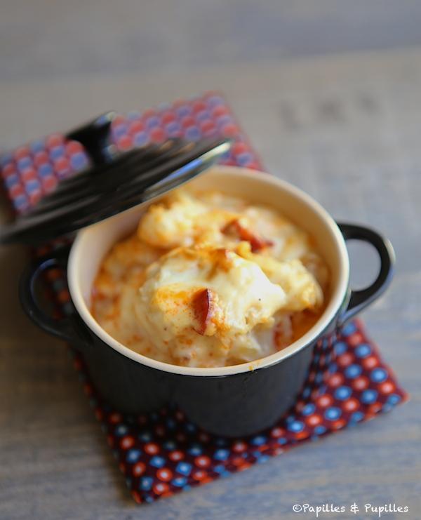 Gratin De Chou Fleur Au Chorizo En Mini Cocottes