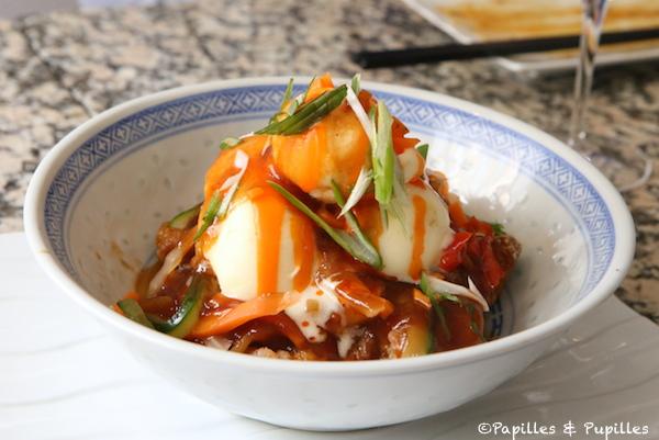 Porc croustillant Gu-Lao-Youk à la cantonaise et sorbet ananas
