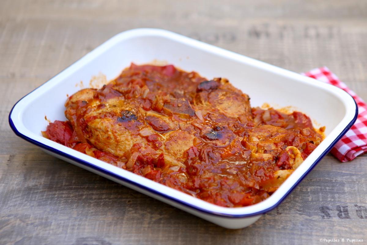 Quasi de veau aux tomates et piquillos