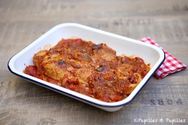 Quasi de veau aux tomates et piments del Piquillo (ou poivrons)