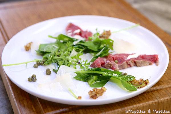 Salade au boeuf, au Parmesan et aux Câpres