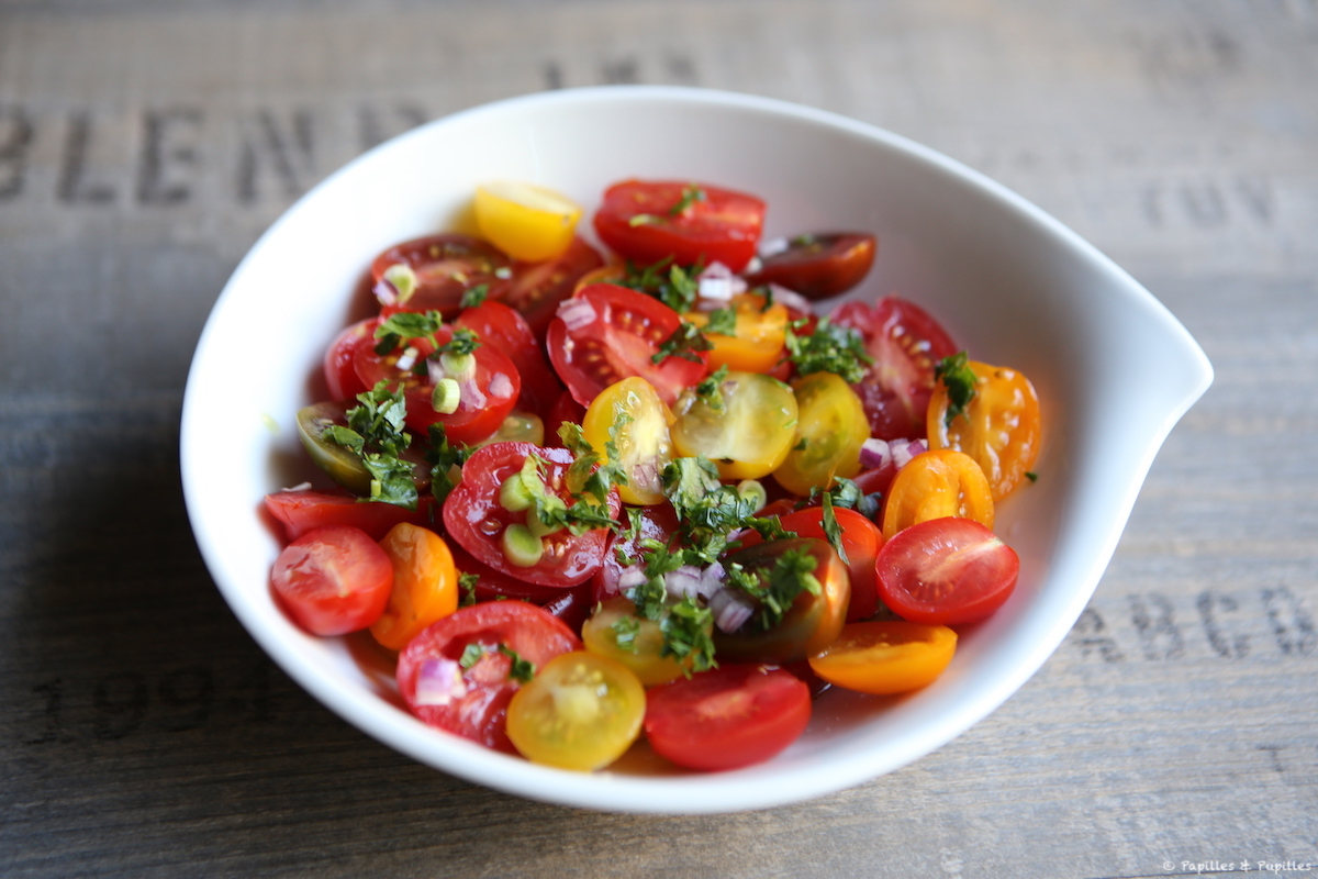 Salade de tomates cerises