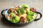 Spaghettis boulettes de viandes brocolis et Parmesan