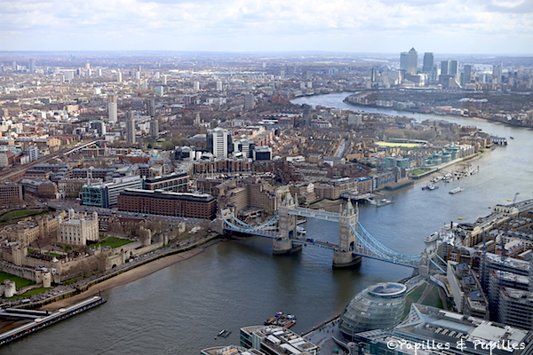 Vue sur Tower Bridge du haut du Shard