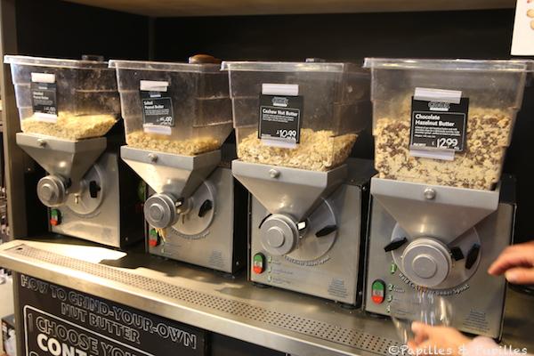 Whole Foods - Machines à beurre de cacahuètes
