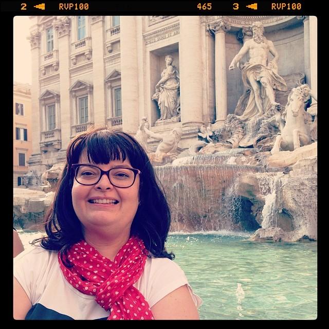 Selfie - fontaine de Trevi - Rome