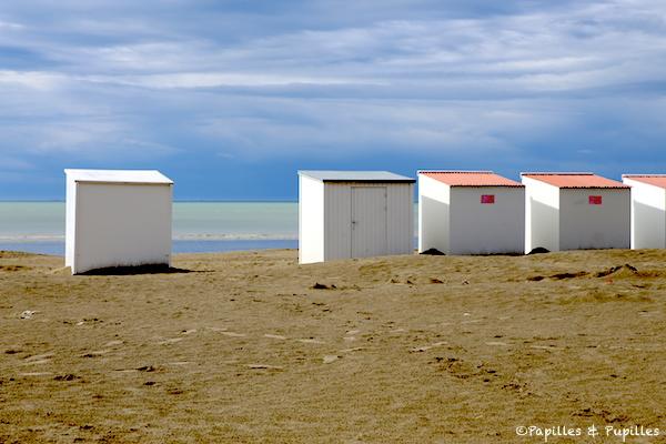 Cabanes - Plage de la mer du Nord