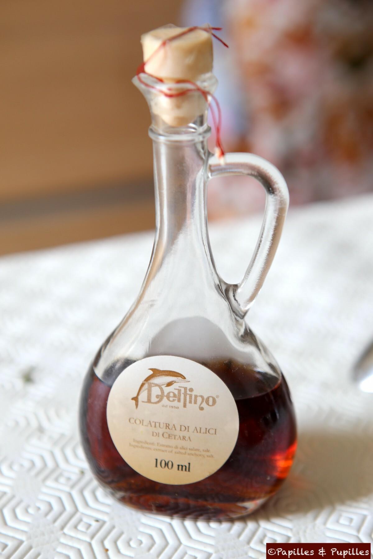 Colatura di alici di Cetara, l'anchois en bouteille