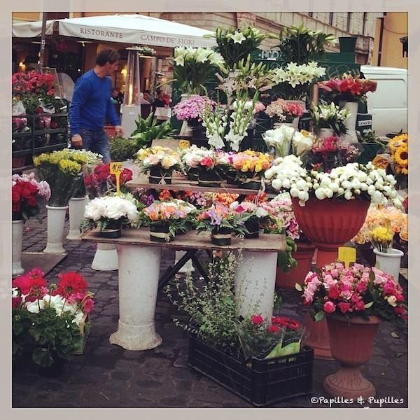 Les fleurs de Campo de' Fiori