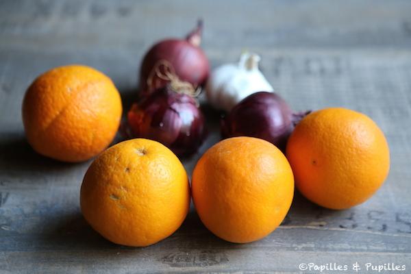 Oranges, oignons et ail