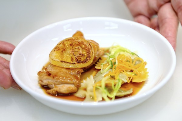 Poulet au miel et au citron de Régis Marcon pour Air France