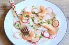 Salade de radis et crevettes