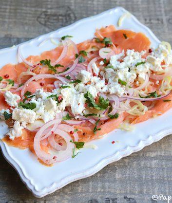 Salade de saumon fumé à la feta