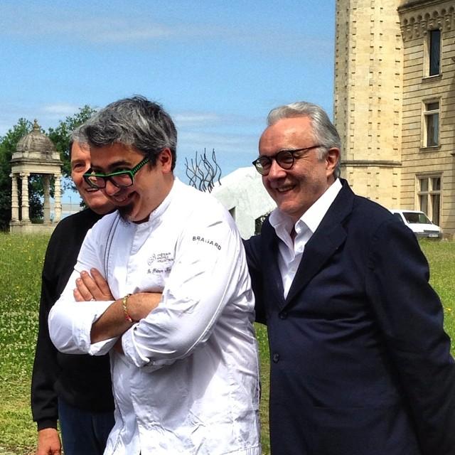 Alain Ducasse - Vivien Durand - Jean Marie Amat - sortie du guide Châteaux et Hôtels Collection - Château du prince Noir - Bordeaux