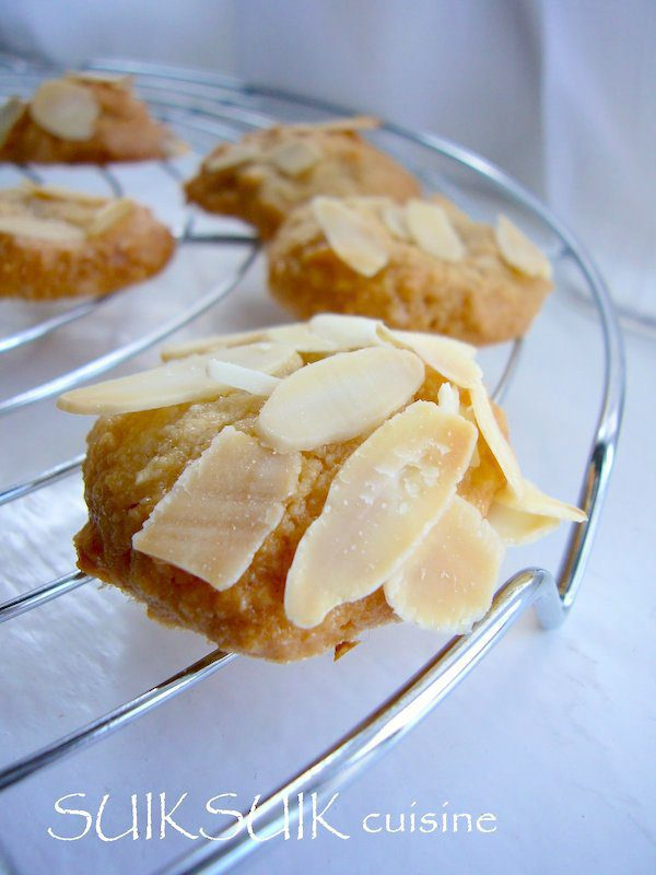 Biscuits aux amandes sans gluten
