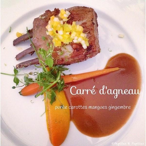 Carré d'agneau - Purée carottes mangues gingembre