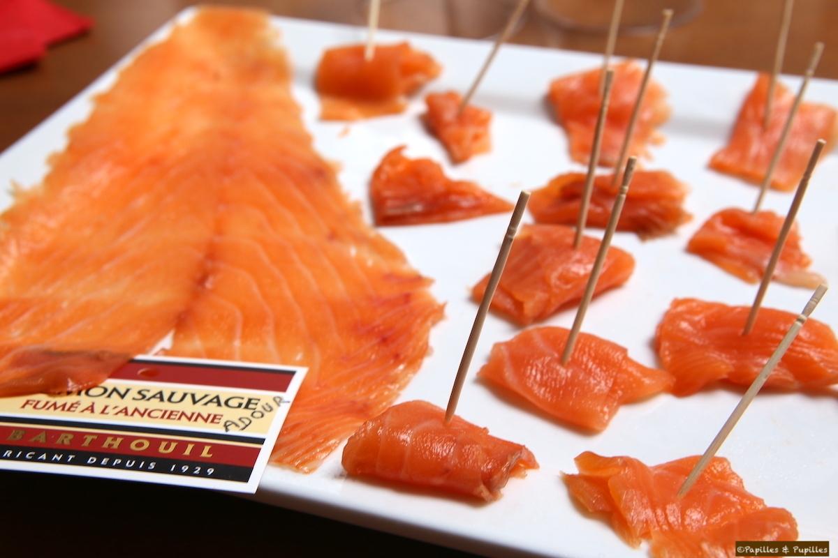 Dégustation de saumon