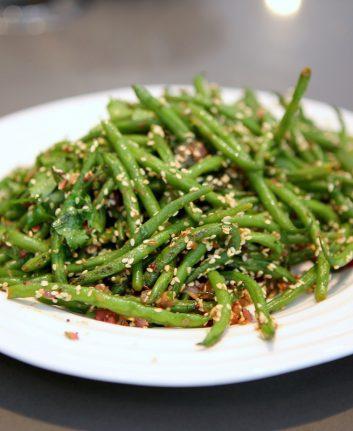 Haricots verts aux grains de sésame