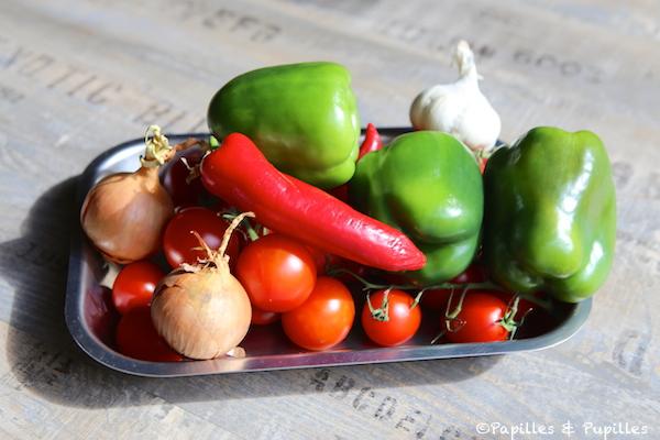 Ingrédients pour Piperade