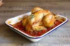 Poulet au vinaigre balsamique, tomates et romarin