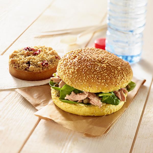 Sandwich thon épinards câpres