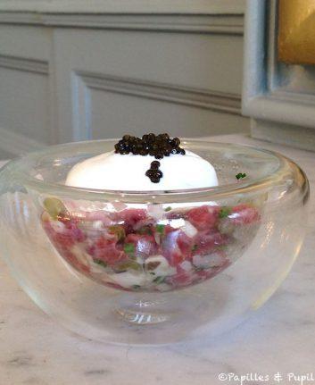 Tartare de boeuf au caviar - Dubern