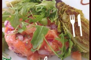 Tartare de saumon au wasabi