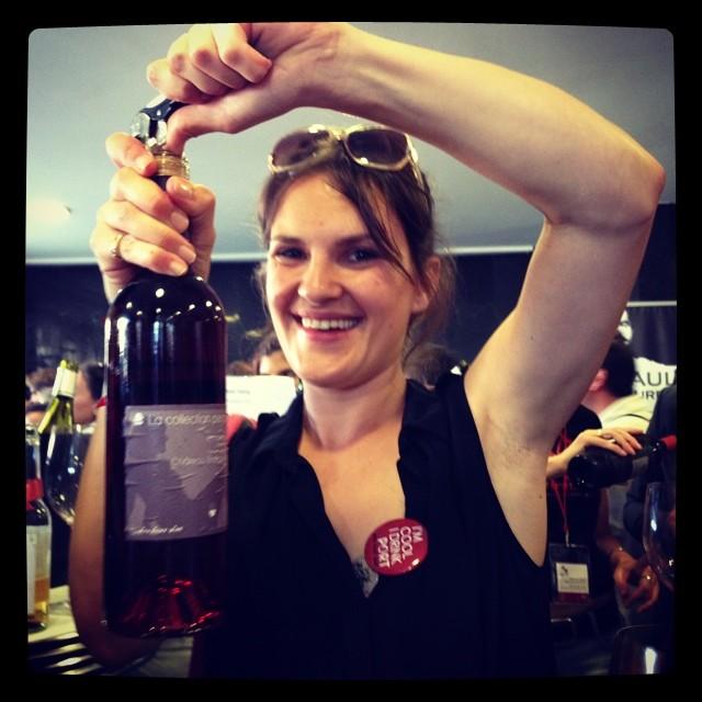 She drinks wine ;) c est @vickywine #winemarket #vinocamp