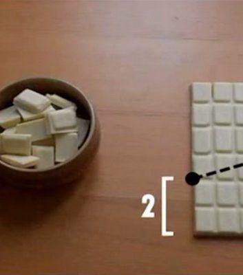 Comment chiper du chocolat sans que cela ne se voit