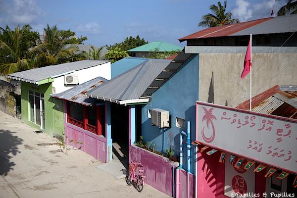 Les maisons colorées des Velidhoo