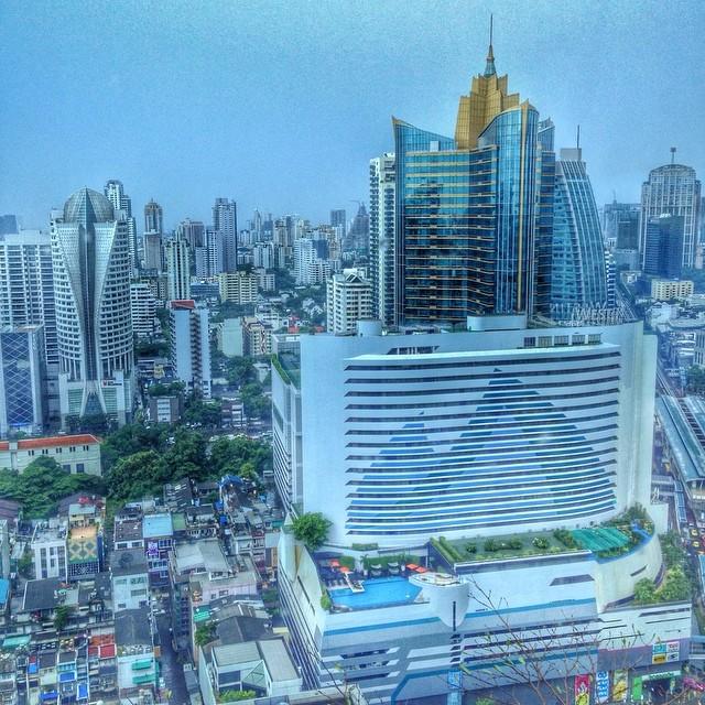 Bangkok, vue du 31e étage du Sofitel