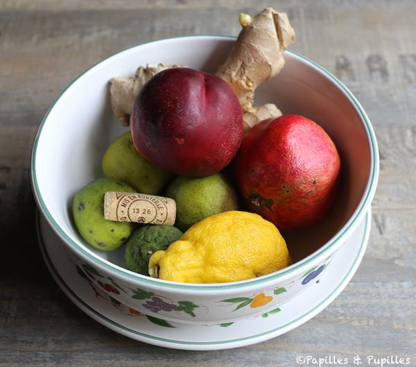Bouchon en liège dans panier de fruit