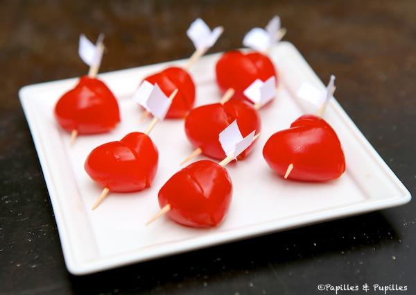 Coeurs de tomates cerises