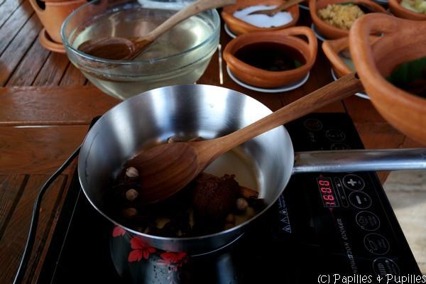 Epices et pâte de curry