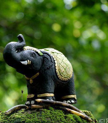 Statue D'éléphant - Parc national de Kao yai