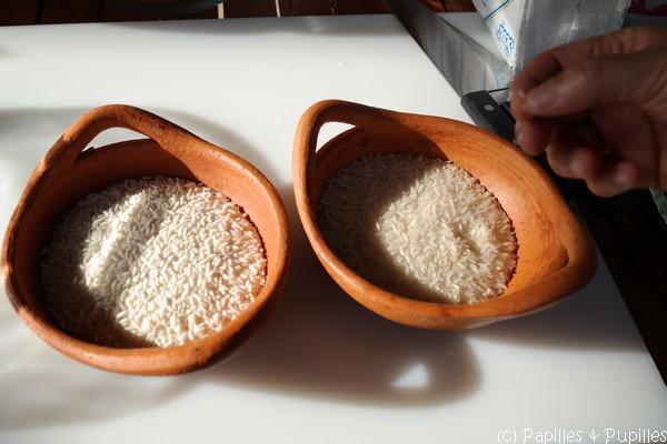 Riz gluant et riz normal