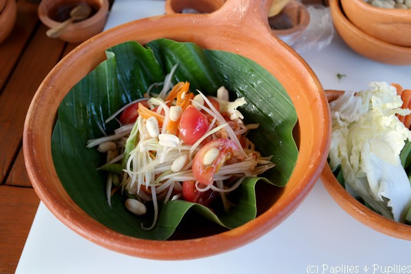 Salade de papaye verte et carottes aux crevettes
