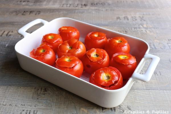 Tomates évidées