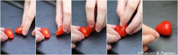 Tomates cerises coeurs