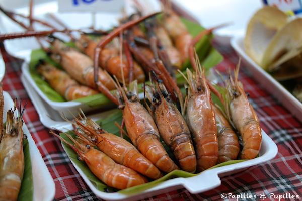 Crevettes cuites