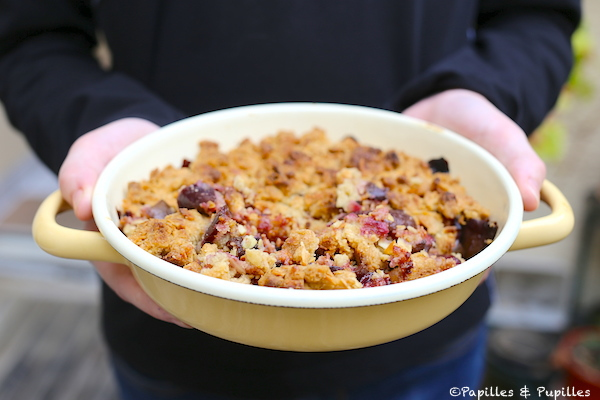 Crumble figues amandes