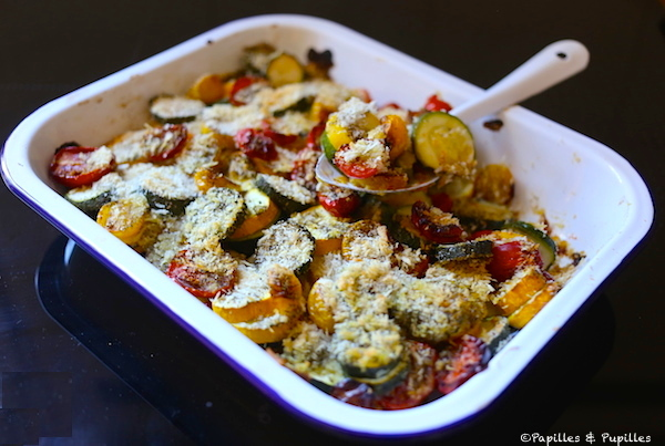 Gratin aux 2 courgettes et tomates cerises
