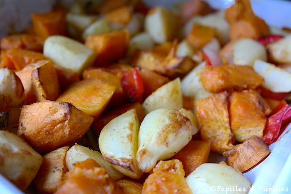 Patates douces et pommes de terre r ties au four - Cuisson patate douce cocotte minute ...