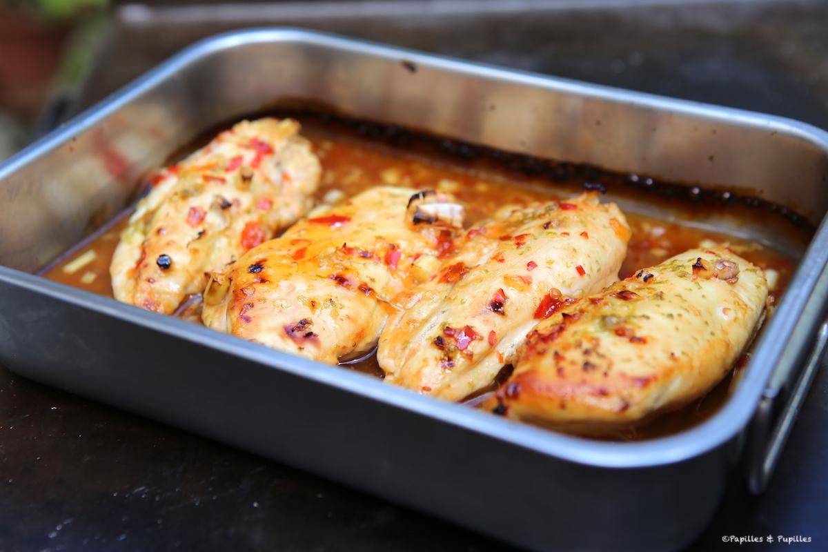 Poulet à la citronnelle et à la sauce pimentée