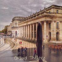 Place de la comédie sous la pluie - Bordeaux