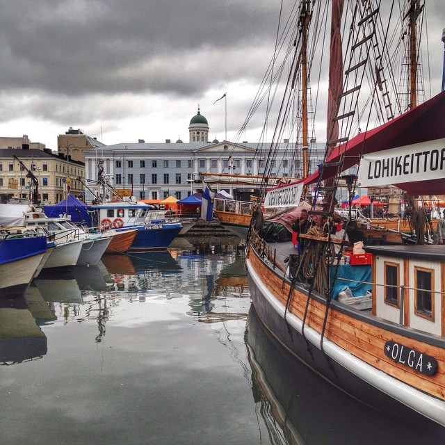Le port et le marché central - Helsinki